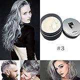 SYMEAS Cheveux Cire Naturelle Matte Coiffure Professionnel Cheveux Colorant Cire pour le Parti Cosplay