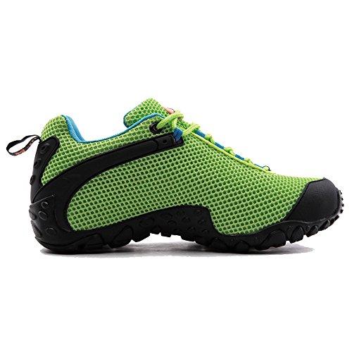 XIANG GUAN Femme Chaussures de Randonnée Basses Respirantes Résistance à l'usure Chaussures de Sports Baskets Outdoor Eté A81286 Vert