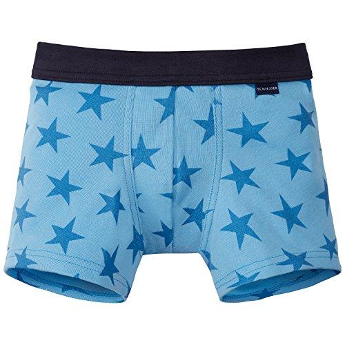 Schiesser Jungen Boxershorts Shorts, Blau (Hellblau 805), 98 (Herstellergröße 098)