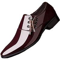 Scarpe Eleganti da Uomo Oxford Scarpe da Uomo in Pelle Verniciata Slip on Mocassini Piatti Scarpe Eleganti da Cerimonia…