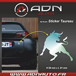 Adhesif / Sticker Chrome - Taureau Corrida - H84mm x L90mm - ADNAuto
