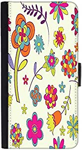 Snoogg Colorful Flower Designer Protective Phone Flip Back Case Cover For Samsung Galaxy J7 (2016)