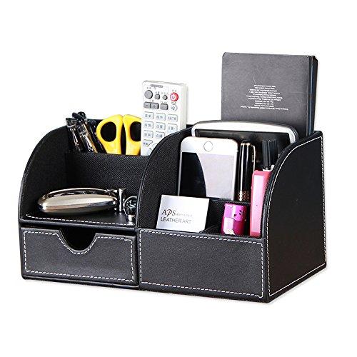 MCBQ Handy-Aufbewahrungsbox Pu Leder Multifunktion Kreative Desktop-Aufbewahrungsbox Cubby Box Aufbewahrungsbox Für Fernbedienung Kosmetische AusrüStungsbox