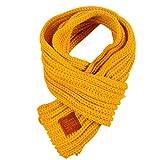 Doitsa Loopschal Kinderschal Winter Warm halten Strickschal klassisch Schlauchschal für Kinder Jungen Mädchen(Gelb)