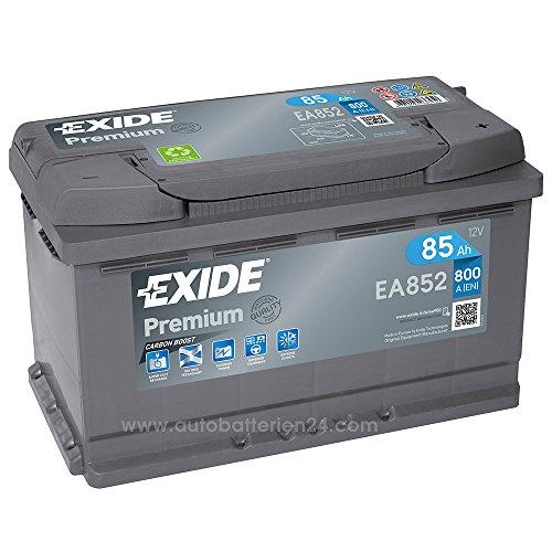 Exide Premium Carbon Boost EA852 85Ah 12V 800A Autobatterie (Neues Modell)