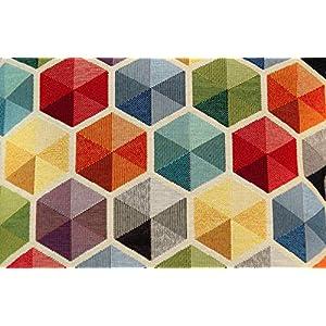 Stoffeldorado - Meterware Dekostoff, Multicolor Modern Style Prisma 140 cm Breite