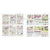 Pack de 6 + 6 laminas de Sticker de Vinilo PVC Pegatinas para Personalizar Customizar el Cuaderno de Viaje Traveler Notebook Midori 4368