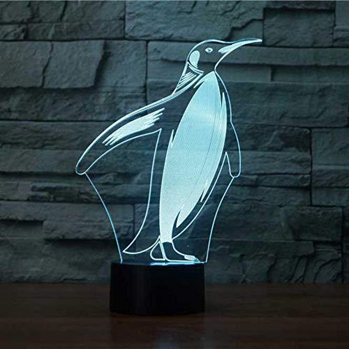 Preisvergleich Produktbild Hlfymx 3D Led Nacht Dekor Pinguin Modellierung Tischlampe Nachtlicht 7 Farbwechsel Tier Beleuchtung Kinder Spielzeug Geschenk