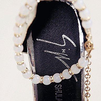 LvYuan-ggx Da donna Tacchi Club Shoes PU (Poliuretano) Primavera Estate Casual Formale Serata e festa Club Shoes Perle di imitazione FibbiaA blushing pink