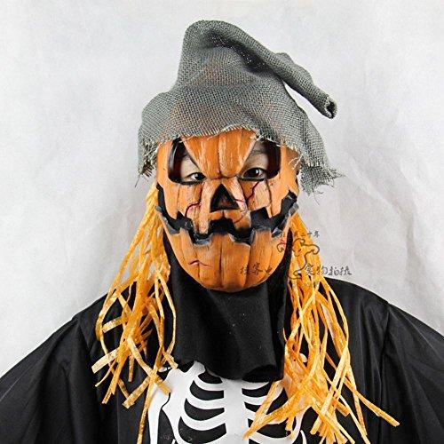 WEII Halloween Kürbis Vogelscheuche Maske Prom Performance Requisiten Halloween Dekoration Requisiten,Bild,Einheitsgröße