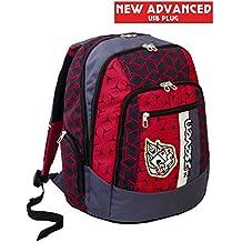 1529883df9 Zaino scuola advanced SEVEN - DICE BOY - Grigio e Rosso - 30 LT - inserti