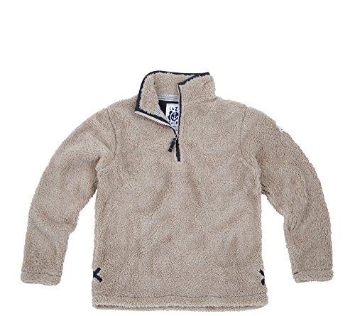 "f37dbbfd15 Lazy Jacks Mens Quarter Zip Snug Fleece Top (X-Small (Chest 39""   99cm)"