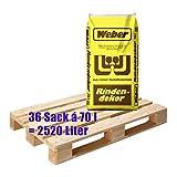 1 Palette Weber Rindenmulch 36 Sack á 70L = 2520 Liter (Körnung: 0-40 mm) Rindendekor