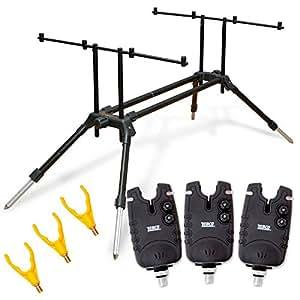 Quantum Radical Freestyle Rod Pod, mehrfarbig, 8402022 (Quantum - Radical Rod Pod Set - 3x Bissanzeiger, Rutengabeln + Tasche)