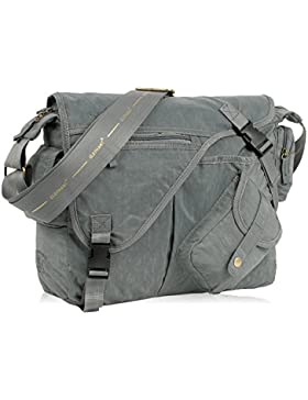 ELEPHANT DIN A4 Umhängetasche CRAFT Messenger Bag Tasche MOUSE GRAU