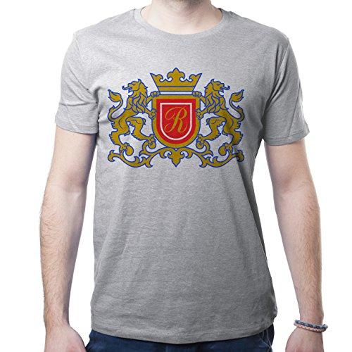 Illuminati Triangle Art Majestic Two Lions R Herren T-Shirt Grau