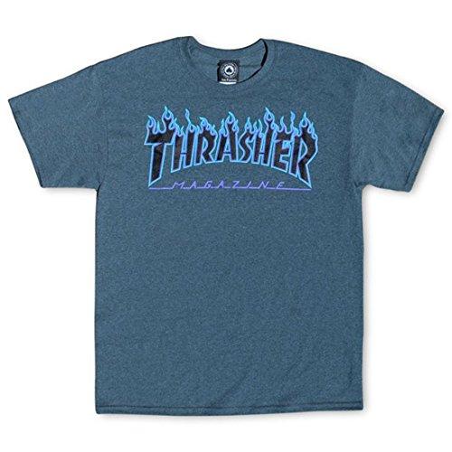 MAGLIETTA THRASHER FLAME GRIGIO - L, grigio
