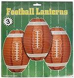 Beistle Fußball Papier Laternen, 27,9cm, braun/weiß
