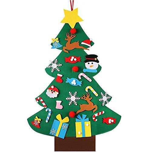 DIY Weihnachtsbaum Dekoration,Neujahr Tür Wandbehang Dekorationen,Ornament Christmas Wandbehang Deko,Filz Weihnachtsbaum Dekoration Hängend Dekor,DIY Filz Weihnachtsbaum Set,DIY Christmas Tree