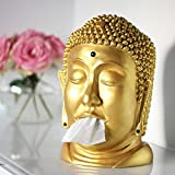 CEBEGO golden BUDDHA Taschentuchbox mit Magnet LACH MAL WIEDER, Tuchspender Taschentuchspender Gesichtstücher