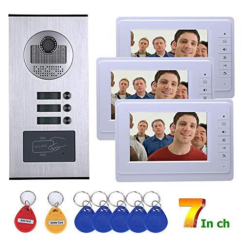 YUEC Video Türklingel Telefon Türklingel Video Intercom Monitor, 7