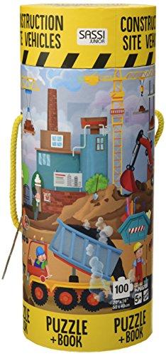 Construction site vehicles. Ediz. a colori. Con puzzle (Sassi junior) por Matteo Gaule