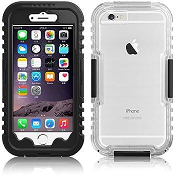 Coque étanche iPhone 6 6s coque résistante à l'eau Coque iPhone 6 6s écran 4.7 '   JAMMYLIZARD   étui waterproof étanche   JAMMYLIZARD   étui incassable, Noir