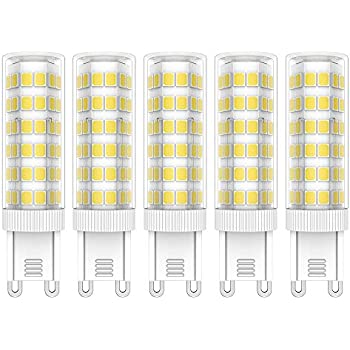 5X G9 LED Bombillas 7W LED Lámpara 76 SMD 2835LEDs Bombilla Lámpara Blanco Frío 6000K Super Brillante 650LM LED Lamps AC220V-240V