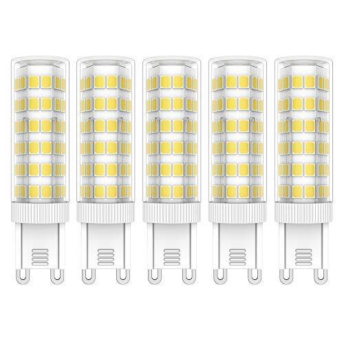 5X G9 LED Lampadine 7W LED Lamps Bianco Freddo 6000K Lampadina LED 44 SMD 2835LEDs Super Luminosa 650LM Luce Lampada AC220V-240V