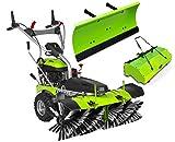 Zipper Kehrmaschine ZI-KM1000 Kehrbesen Schneefräse Schneeschieber Motorbesen