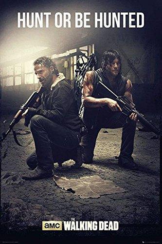 The Walking Dead Poster Hunt or be Hunted - Poster Großformat (61cm x 91,5cm)