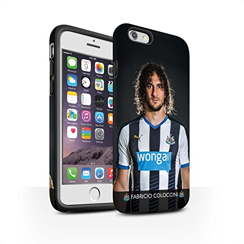 Officiel Newcastle United FC Coque / Matte Robuste Antichoc Etui pour Apple iPhone 6S / Shelvey Design / NUFC Joueur Football 15/16 Collection Coloccini