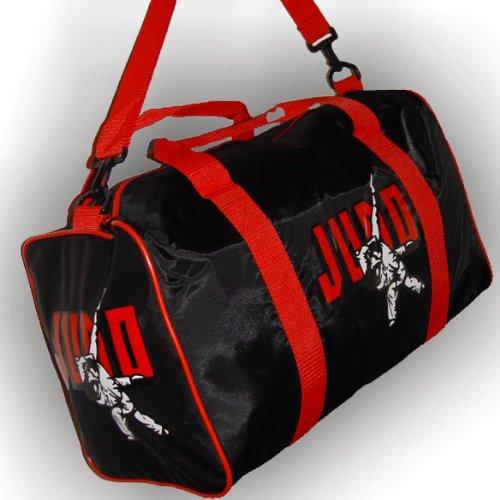 BAY® Sporttasche JUDO Kampfsport, Tasche, Trainingstasche, schwarz/rot, 50 cm