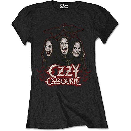 Crows Black Sabbath Rock offiziell Frauen T-Shirt Damen (Large) ()