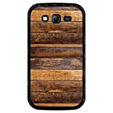 Hapdey Custodia per [ Samsung Galaxy Grand Neo - Neo Plus ] Disegni [ Struttura della Parete di Assi di Legno ] Cover Guscio in Silicone Flessibile Nero TPU