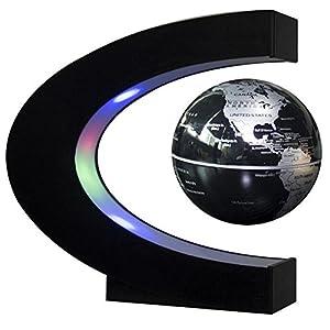 Levitación magnética Luces LED en forma de C mapamundi flotante para la decoración de escritorio 4 pulgadas 12V