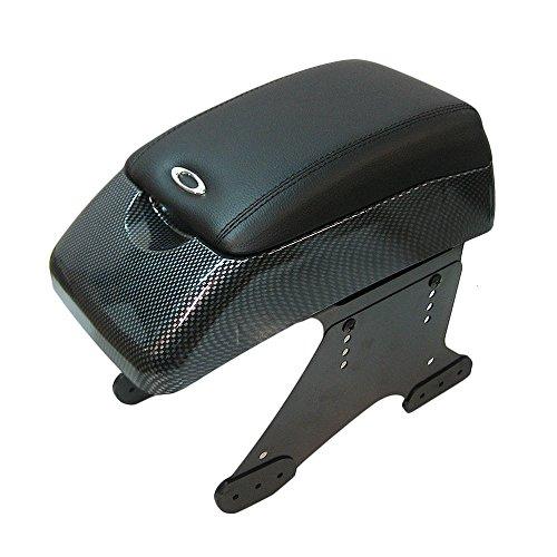 Autohobby 48015 Mittelarmlehne Armlehne Universell Konsole Mittelkonsole Kunstleder Aufbewahrungsbox Carbon (Mittelkonsole Integra)