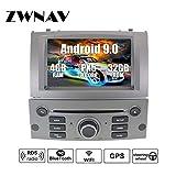 ZWNAV Android 9.0 GPD di navigazione per auto lettore dvd di navigazione per PEUGEOT 407 2004-2010 con scheda SD di mappatura di paese Europa 49