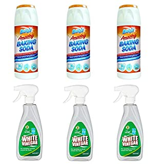 White Vinegar & Soda for Cleaning - 3 x Duzzit Baking Soda 3 x White Vinegar Spray for Cleaning