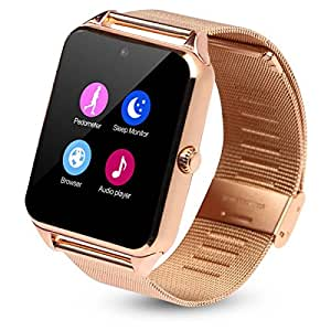 HealthMax HT Z60 Golden Smartwatch Compatible with Idea ID 918 Mobiles