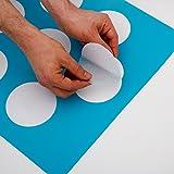 12x große Anti Rutsch Sticker mit gratis Klebeschablone für Badewanne und Dusch