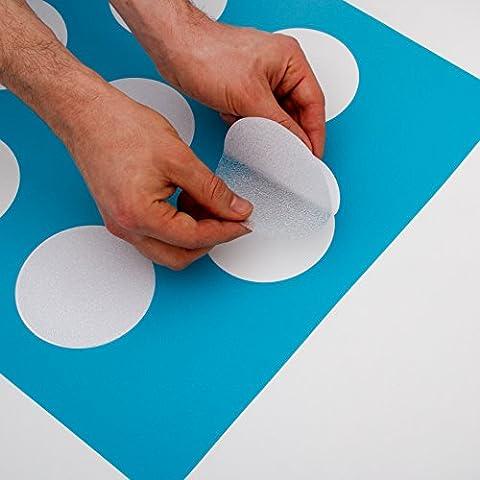 12x große Anti Rutsch Sticker mit gratis Klebeschablone für Badewanne und Dusche. Die Alternative zur Antirutschmatte und Badewanneneinlage