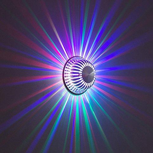 Applique murale à LED allège les lumières de fond de mur Lampe moderne de chambre à coucher minimaliste Multicolor sélection (Color : Multi-colored, Wattage : 1W)