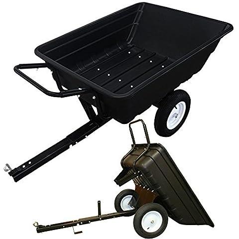 Rhyas Large ATV Quad Utility Trailer Cart 300kg Heavy Duty