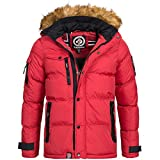 Geographical Norway / Anapurna Herren Winterjacke Jacke Outdoor Warm Gefüttert Behar/Biwa Gr. S-XXXL, Größe:L;Farbe:Rot