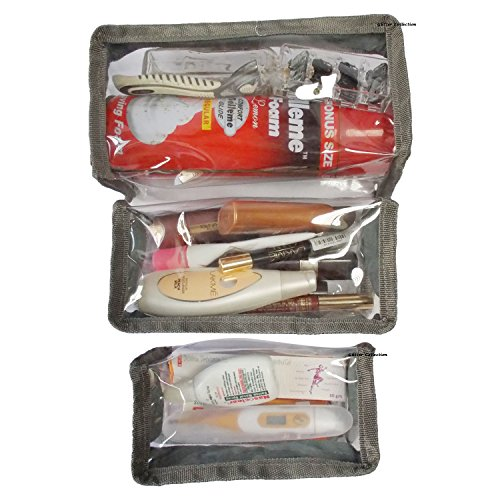 Glitter Collection Shaving and Medical Kit, Jewellery Organiser, Shoe Pouch Toiletries (Combo of 4)