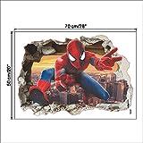 JUNMAONO Spiderman Wandaufkleber/Abnehmbare Wandbild Aufkleber/Wandgemälde/Wand Poster/Wandbild Aufkleber/Wandbilder/Wandtattoo/Pinupbild/Beschriftung/Pad einfügen/Tapete/Tapezieren/Tapeten/Wand Zeitung/Wandmalerei Haftnotiz/Fühlen Sie sich frei zu kleben/Instant Aufkleber/3D-Stereo-Wandaufkleber