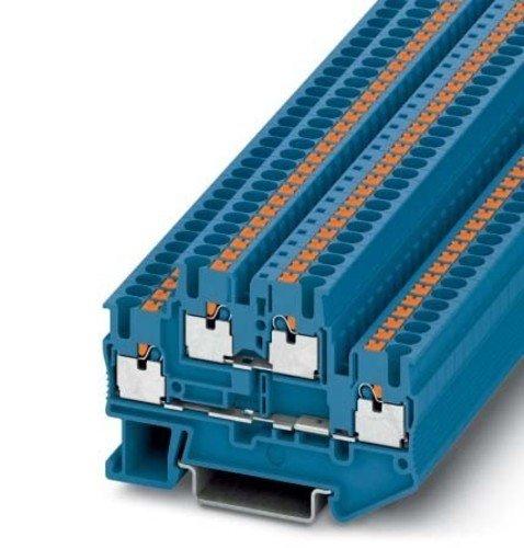 Phoenix Contact PTTB 2,5 BU 3210570 Doppelstockklemme Polzahl: 4 0.14 mm² 2.5 mm² Blau 1 St.
