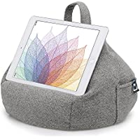 iBeani iPad & Tablet Stand/Bean Bag Cushion Holder for All Devices/Any Angle on Any Surface - Herringbone Grey