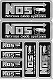 NOS N.O.S. Lachgas schwarz Sticker Aufkleber Folie 1 Blatt 270 mm x 180 mm wetterfest